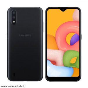 گوشی موبایل سامسونگ مدل Galaxy a01 ظرفیت 16 گیگابایت دو سیم کارت- با گارانتی