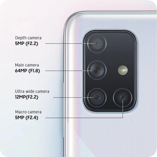 گوشی موبایل سامسونگ Galaxy A71 با ظرفیت 128 گیگابایت