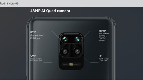 گوشی موبایل شیائومی Xiaomi Redmi Note 9S با ظرفیت 128 گیگابایت بهمراه گارانتی و پک گلوبال
