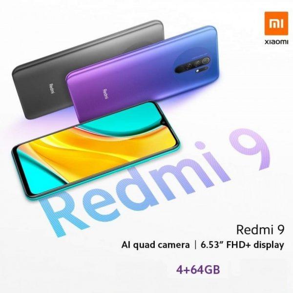 گوشی موبایل شیائومی Xiaomi Redmi 9 با ظرفیت 64 گیگابایت بهمراه گارانتی و پک گلوبال