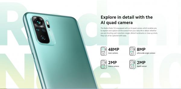 گوشی موبایل Xiaomi Redmi Note 10 با ظرفیت 128 گیگابایت بهمراه گارانتی و پک گلوبال