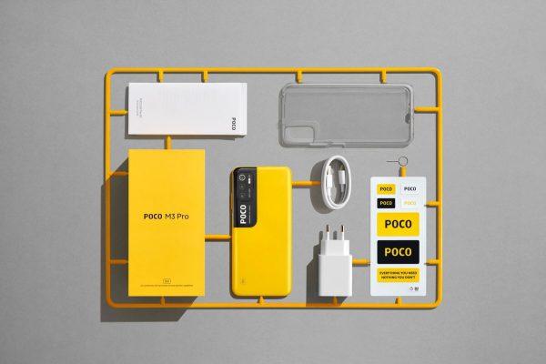 گوشی موبایل شیائومی  Xiaomi Poco M3 Pro 5G با ظرفیت 128 و رم 6 گیگابایت بهمراه گارانتی و پک گلوبال